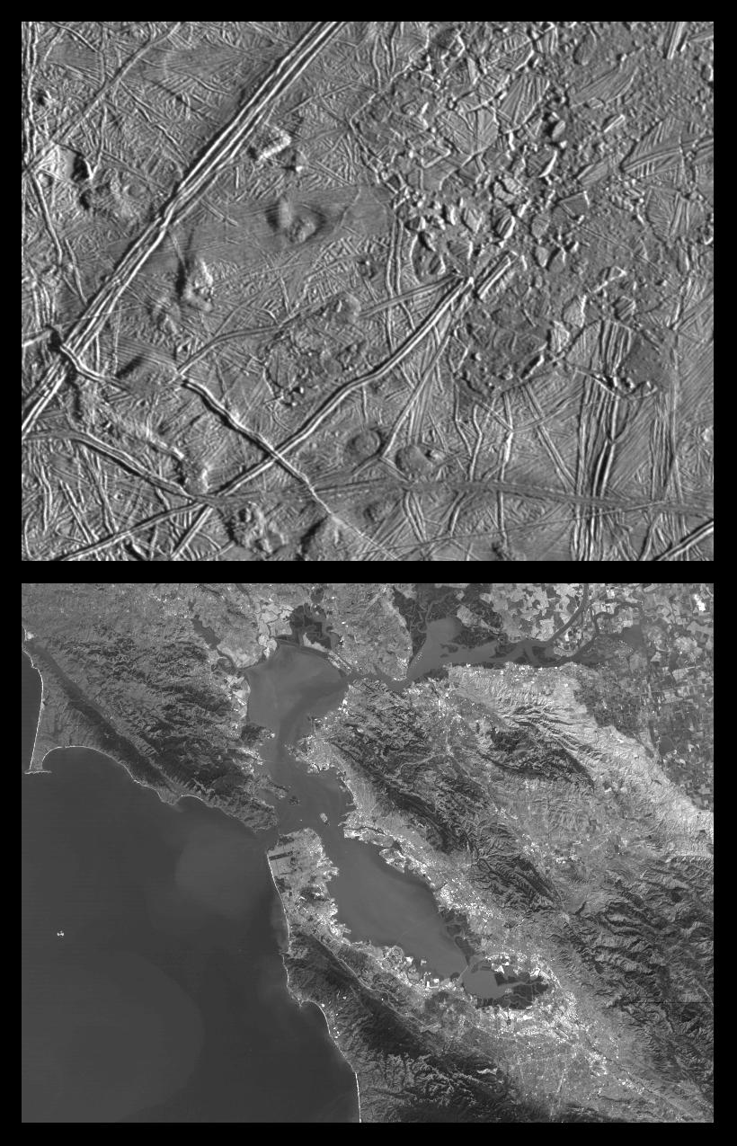 Europa compared to California.