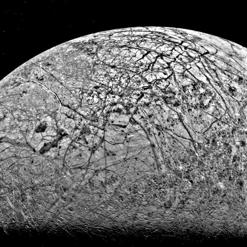 cracked surface of moon