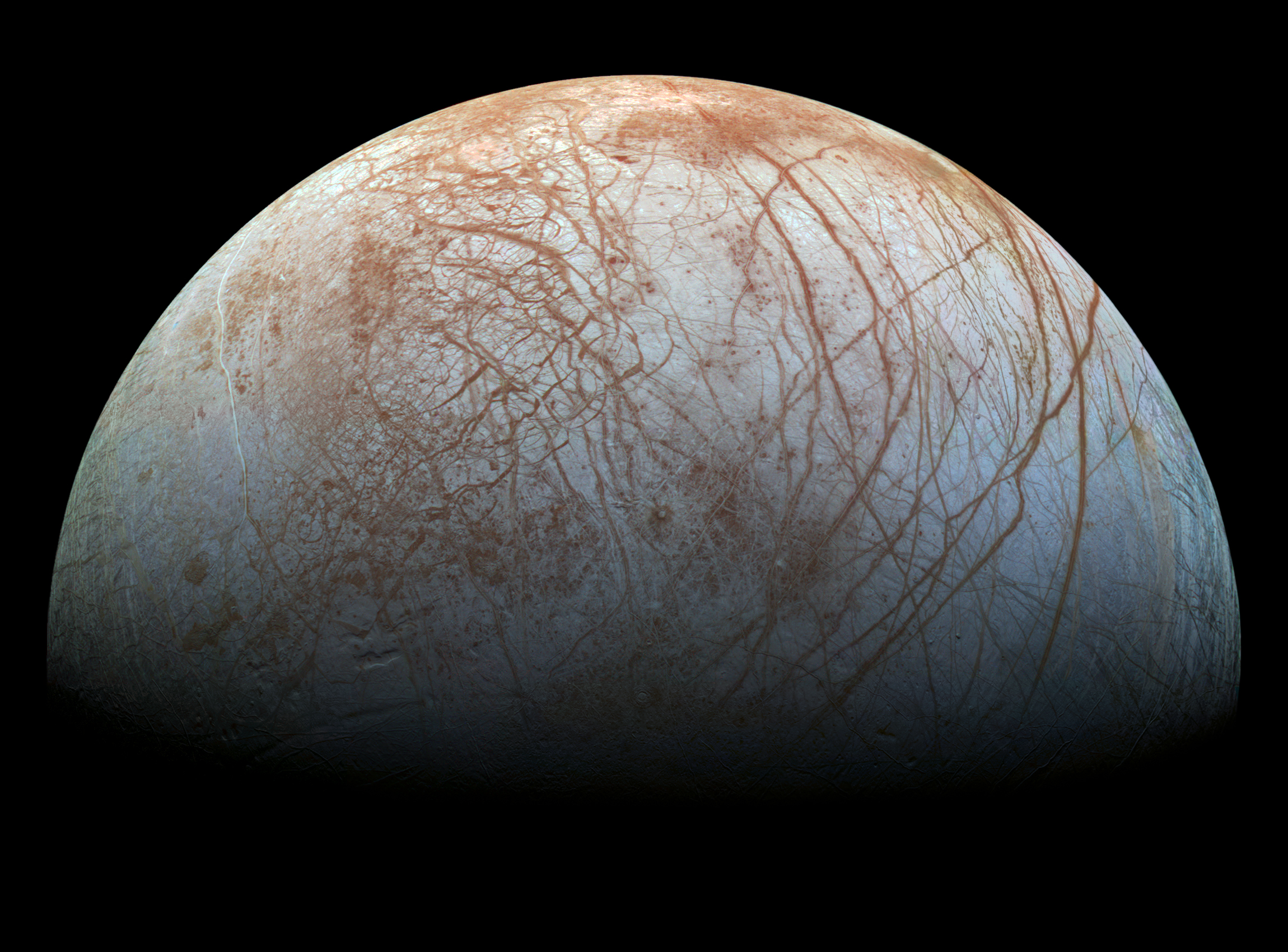 slide 4 - Surface of Jupiter's moon Europa