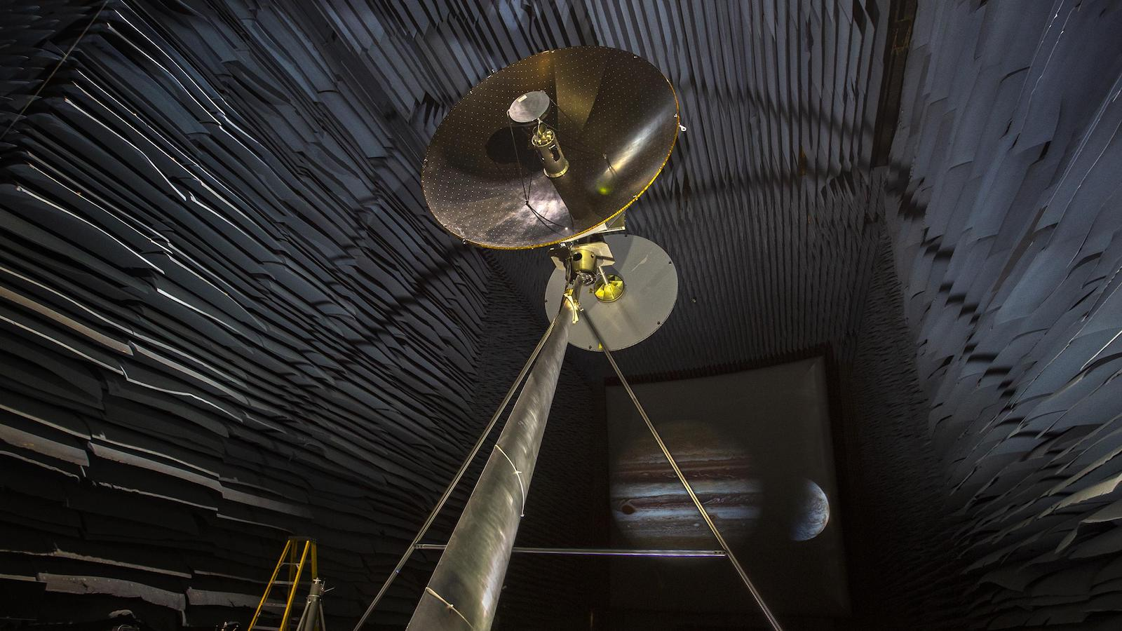 slide 2 - antenna dish in large chamber