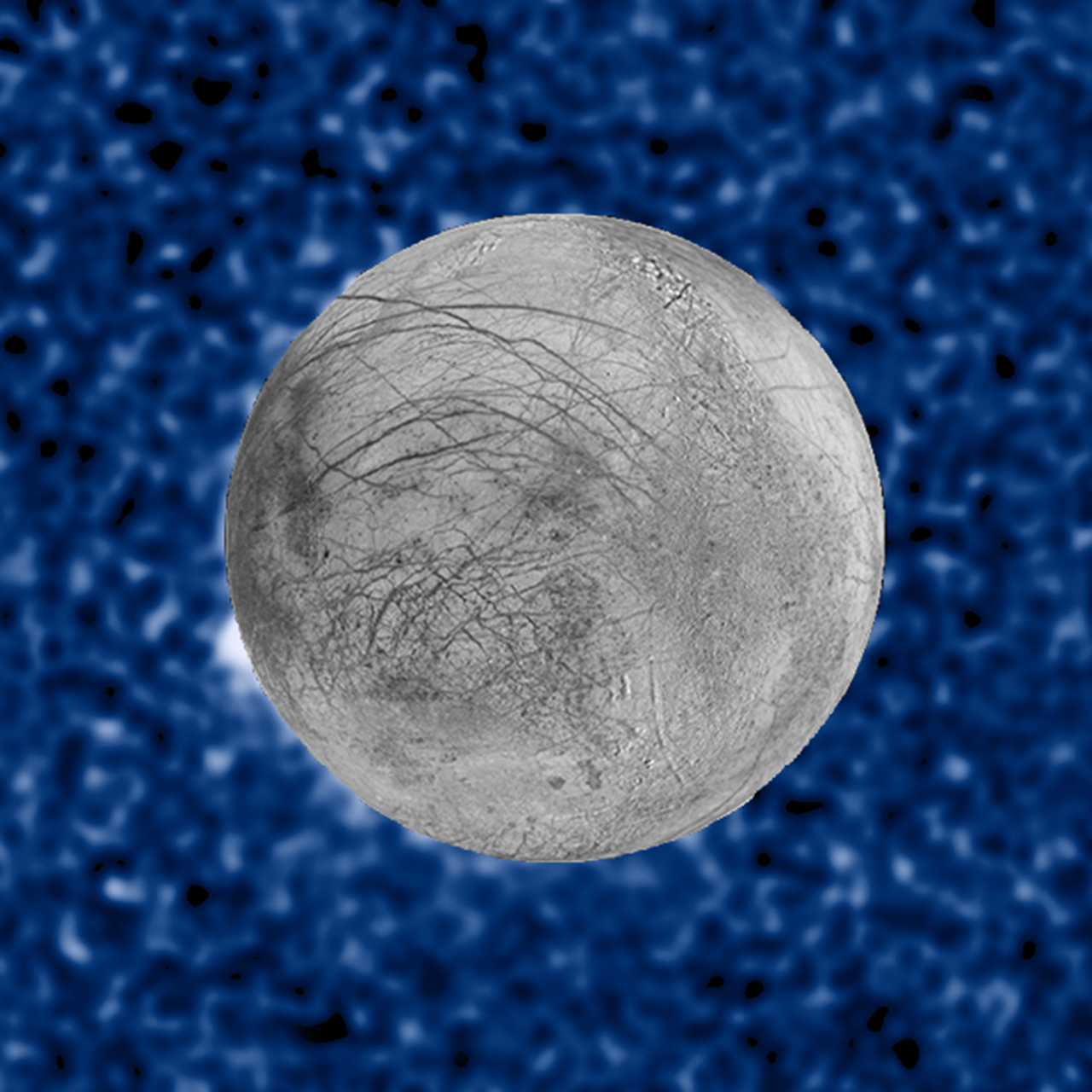 Plume erupting from Europa
