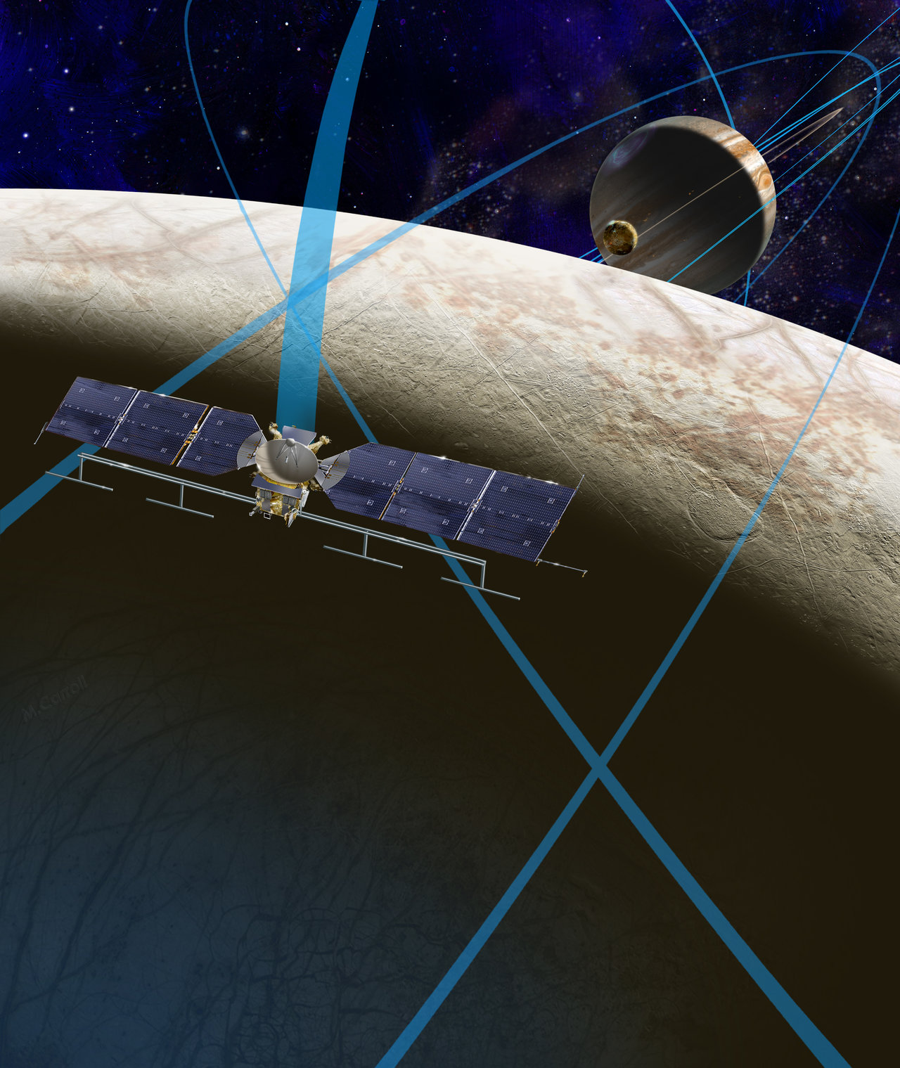 Artist rendering of Europa spacecraft
