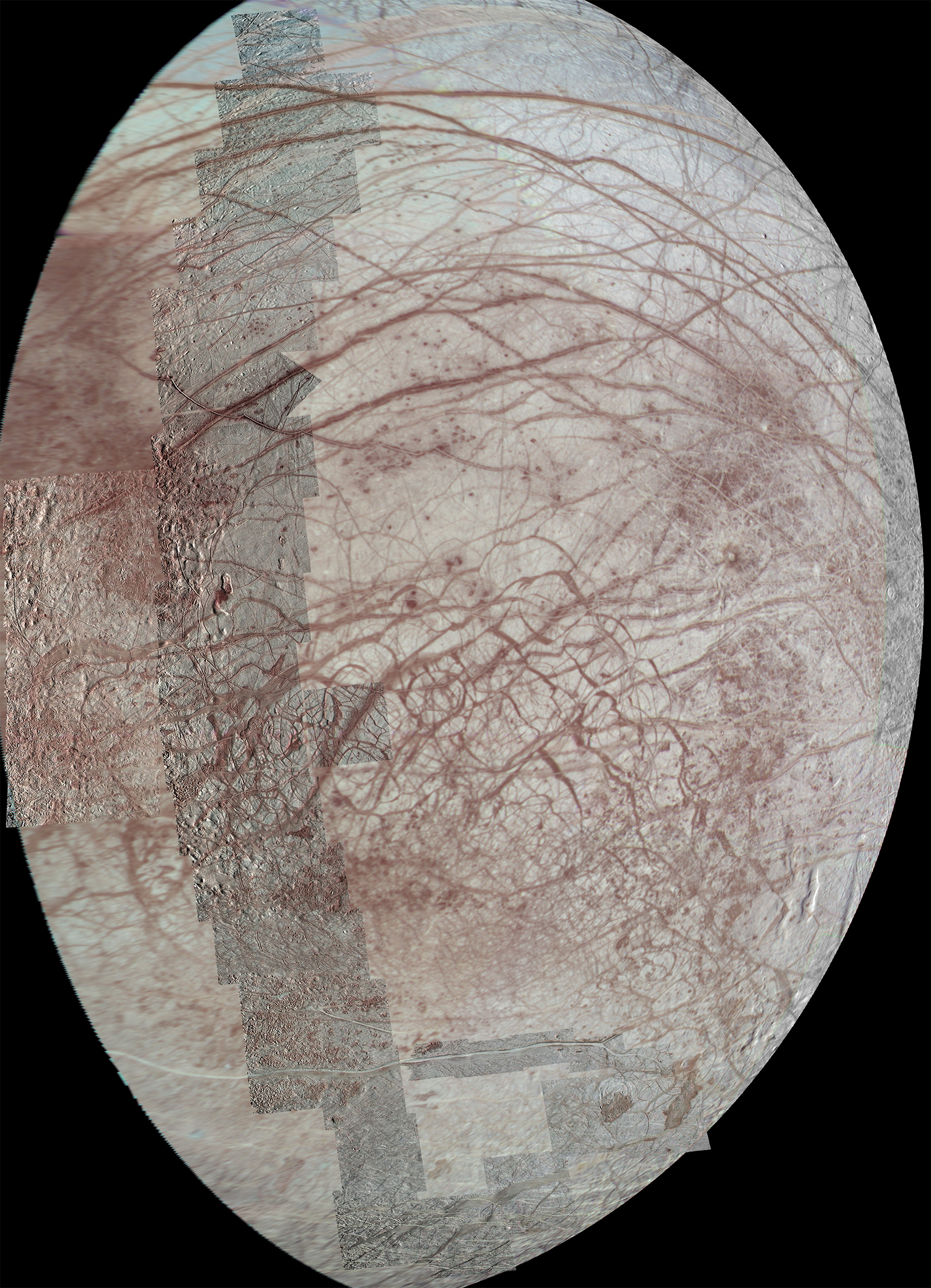 Image of Europa from pole-to-pole.