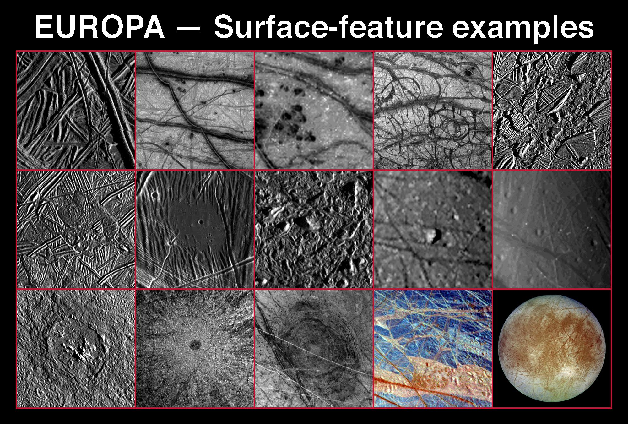 Collection of orbital images shows rugged terrain.